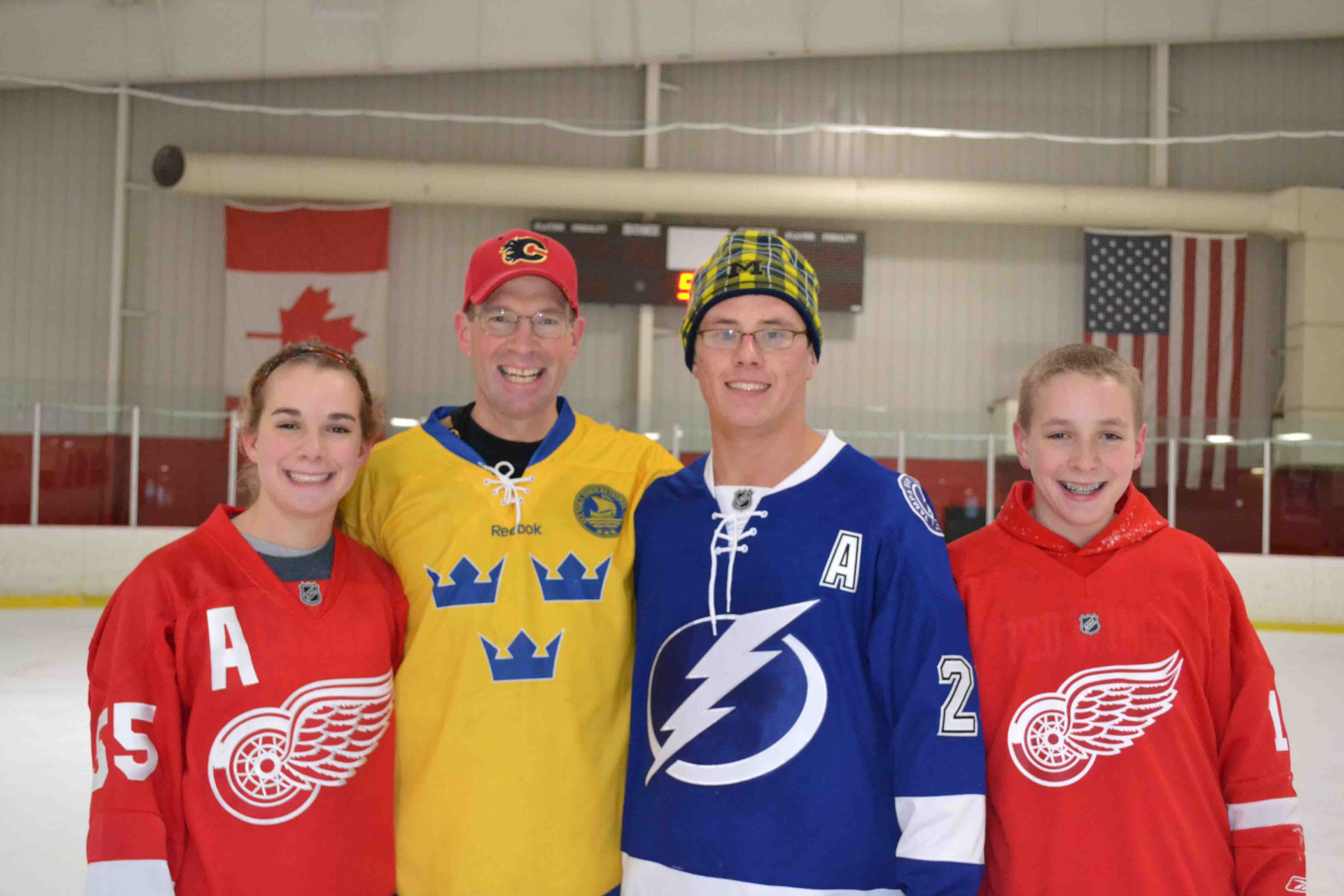The Stafford clan gets Mr. Weed's vote as best group of jerseys.