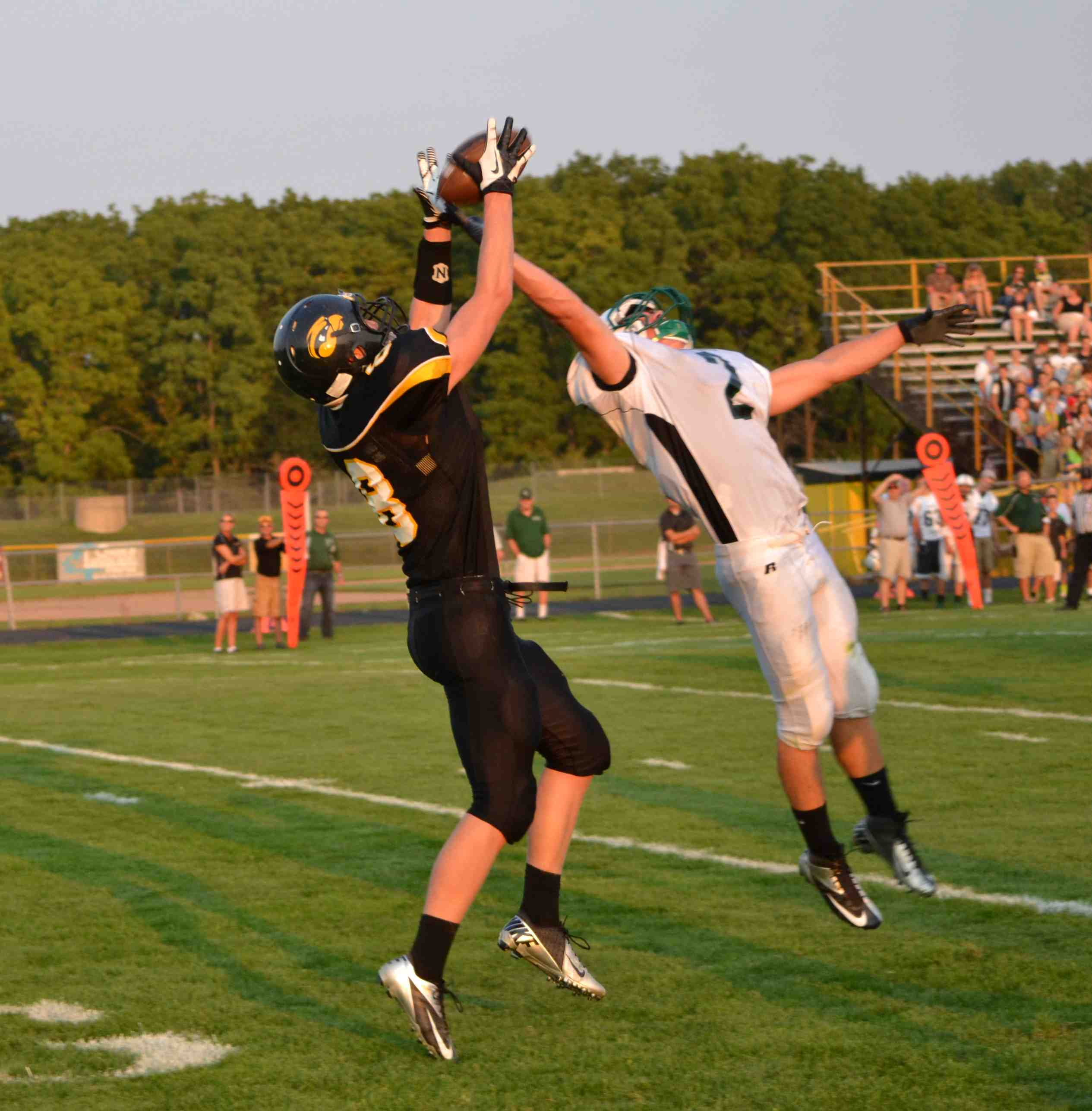 Hamilton's air attack helped put points on the board.  Like catch from last year led to a touchdown by Jeff Dyke.