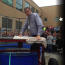 Hamilton superintendent Dave Tebo gets cooled off by students at lunch in the Close-Up dunk tank.